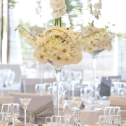 decor, white wedding, flowers, table