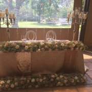 candles, decor, flowers, table
