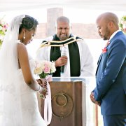 marriage officer, suit, veil