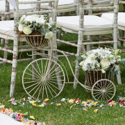 chairs, flowers
