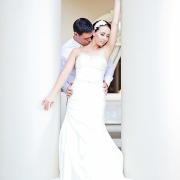 bride and groom, dress