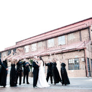 bridesmaid dress, confetti, venue