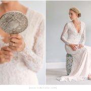 hair, lace wedding dress