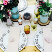 decor, glasses, table